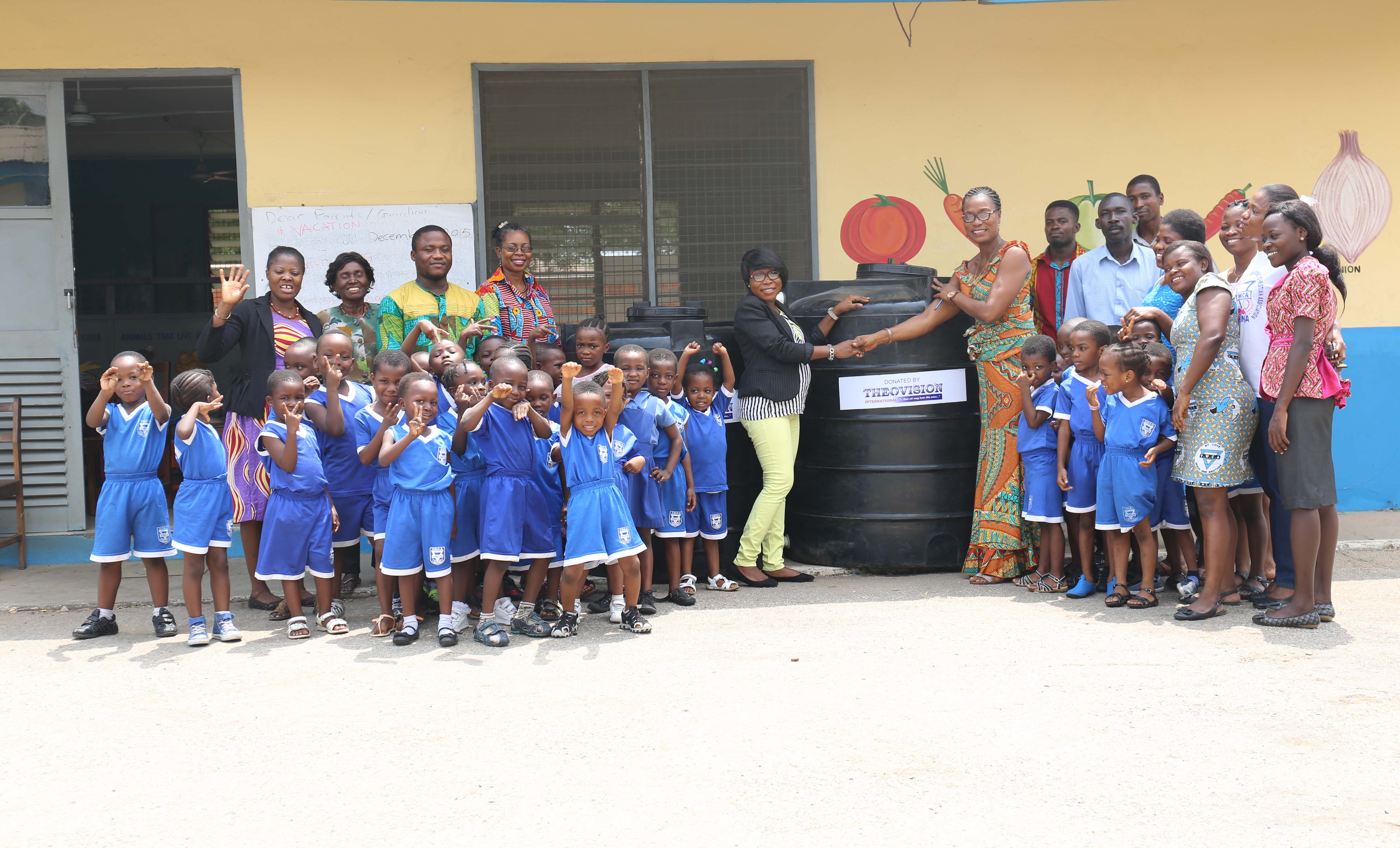 THEOVISION INTERNATIONAL DONATES WATER-STORAGE TANKS TO A DAY CARE